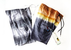 HEAT WAVE: PRINTED SWIM TRUNKS
