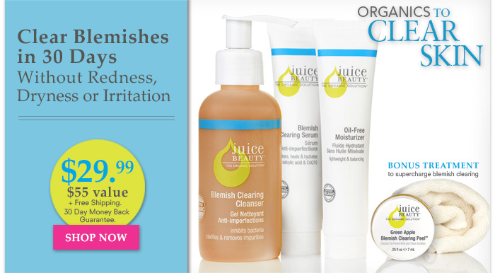 Clear Blemishes in 30 Days Without Redness, Dryness or Irritation