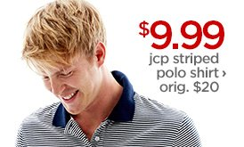 $9.99 jcp striped polo shirt › orig. $20