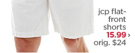 jcp flat-front shorts $15.99 › orig. $24