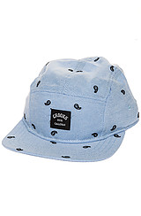 The Pais 5 Panel Hat in Light Blue