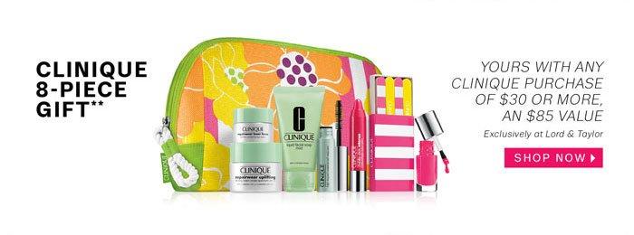 Clinique 8-Piece Gift**. Shop Now.