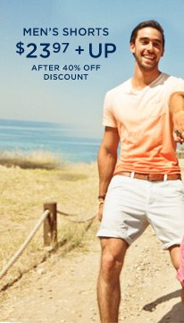 Men's Shorts $23.97 + Up After 40% Off Discount