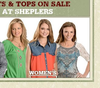 Womens Red Ranch Shirts on Sale