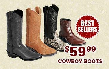 Mens 59.99 Cowboy Boots