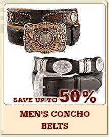 Mens Concho Belts