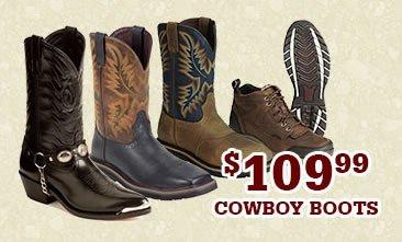 Mens 109.99 Cowboy Boots