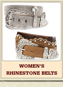 Womens Rhinestone Belts