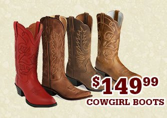 Womens 149.99 Cowgirl Boots