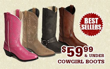 Womens 59.99 and under Cowgirl Boots