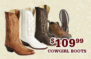 Womens 109.99 Cowgirl Boots