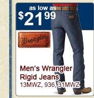 Wrangler Rigids as low as 21.99