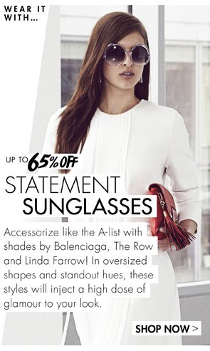 Up to 65% off statement sunglasses