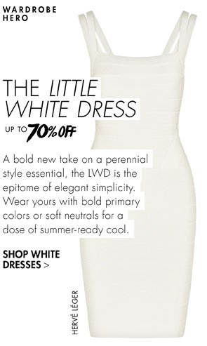 The little white dress up to 70% off