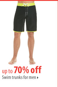 up to 70% off Swim trunks for men.