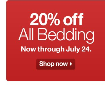 20% off All Bedding