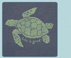 Mens Crusher Tees Elemental Sea Turtle