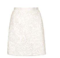 Applique Flower A-Line Skirt