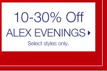 10-30% Off Alex Evenings