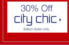 30% Off city chic