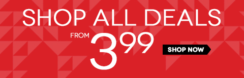 Just $3.99 and up! We've just taken additional markdowns on clearance items. Styles start at $3.99! Shop early - your style will sell out