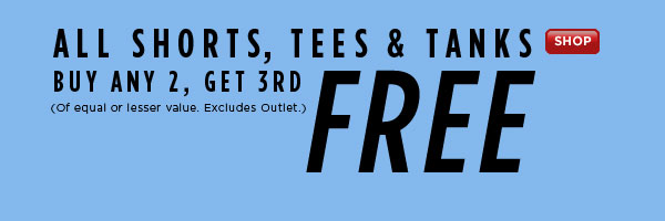 SHOP  Shorts, Tees & Tanks Sale