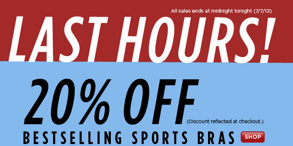 SHOP Bestselling Sports Bra Sale