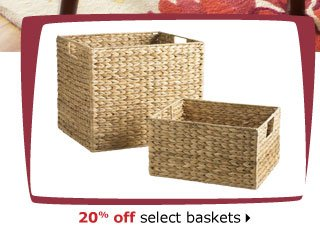 20% off select baskets