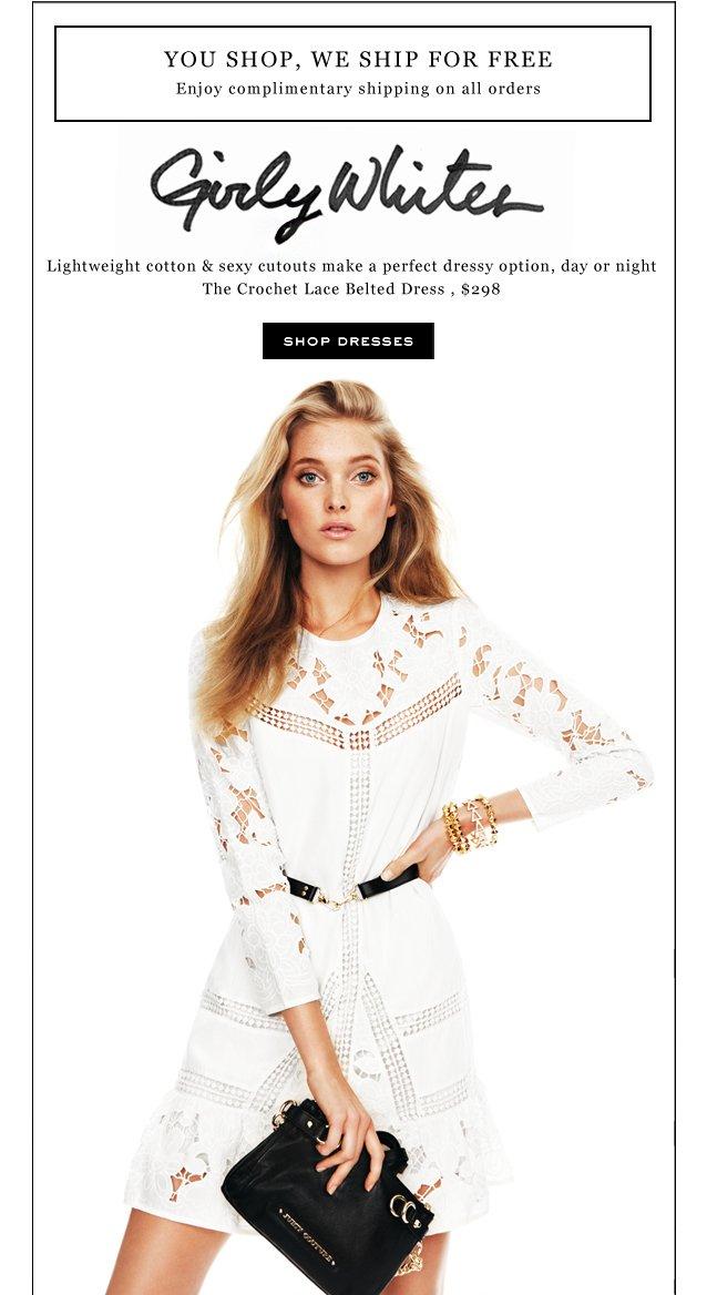 Girly Whites. Shop Dresses.