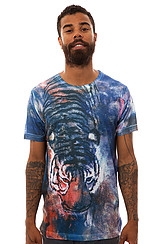 The Tiger Wash Tee in Multi