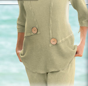 Two-Button Square-Neck Tunic