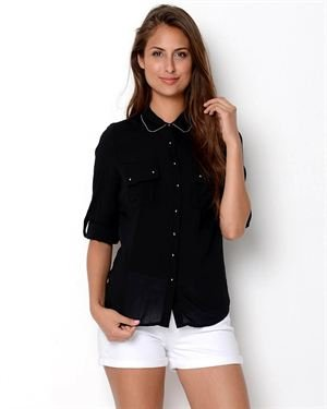 Ali & Kris Studded Button-Up Blouse