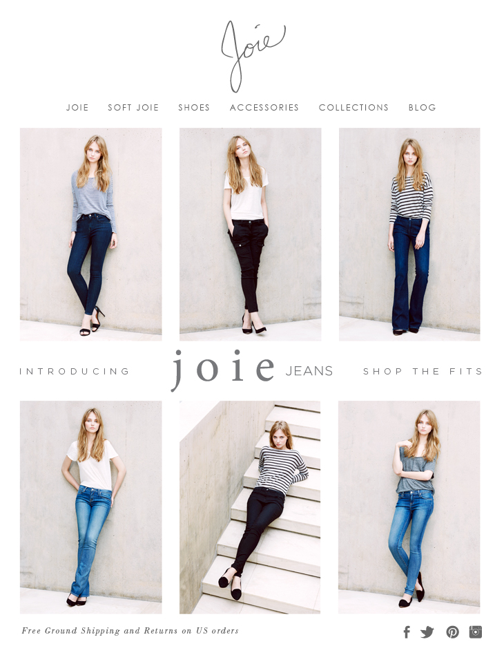 INTRODUCING joie JEANS SHOP THE FITS