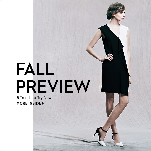 Preview fall's top 5 season-defining trends and how to wear them. Shop now >>