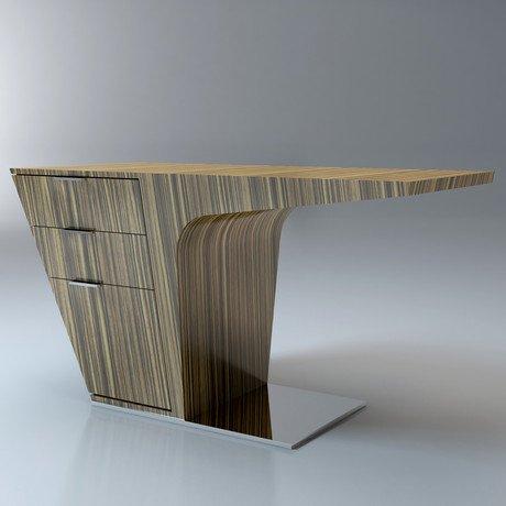 Mercer Desk // Zebrano Lacquer