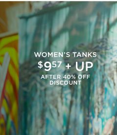 Women's Tanks | $9.57 + Up | After 40% Off Discount