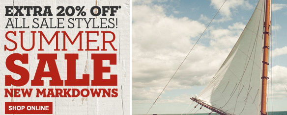 Extra 20% off* all sale styles! Summer sale new markdowns. - Shop Online