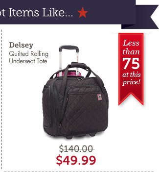 Delsey Quilted Rolling Underseat Tote. Shop Now.