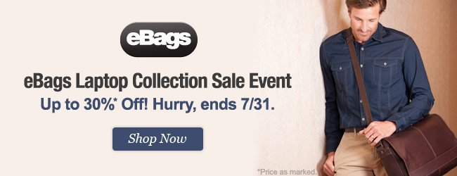 eBags Laptop Collection Sale Event. Up to 30% Off! Shop Now.