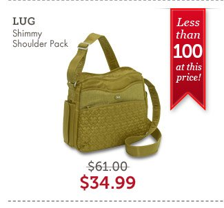 LUG Shimmy Shoulder Pack. Shop Now.