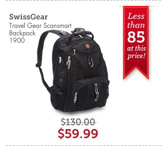 Swiss Gear Travel Gear Scansmart Backpack 1900. Shop Now.