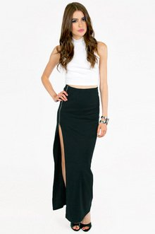 TAKE A ZIP MAXI SKIRT 33