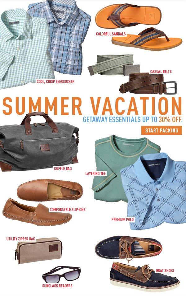 Summer Vacation Getaway Essentials