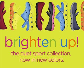 brighten up! the duet sport collection, now in new colors.