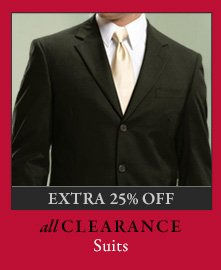 All Clearance Suits - Extra 25% Off