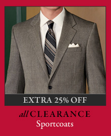 All Clearance Sportcoats - Extra 25% Off