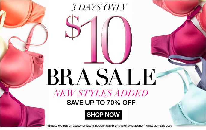 $10 Bra Sale - 3 Days Only, New Styles Added, Up to 70% Off