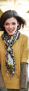 Fringe Scarf in Cocoa Moss