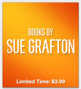 Books by Sue Grafton: $3.99 for a Limited Time