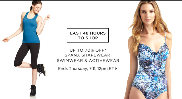 Up To 70% Off* Spanx…Shop Now